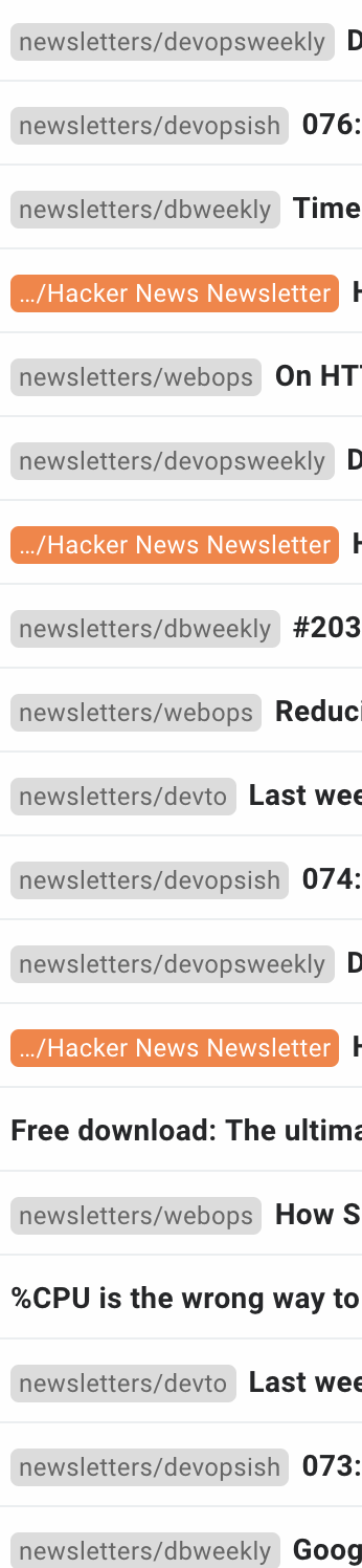 newsletters, newsletters everywhere